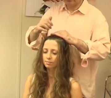 indická masáž hlavy postup
