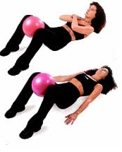 Overball a posílení břišního svalstva