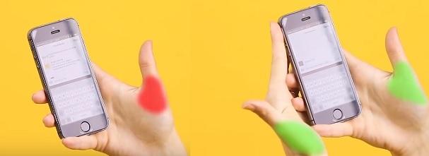 Pište na mobilu dvěma palci.