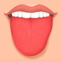 Jasně červený jazyk