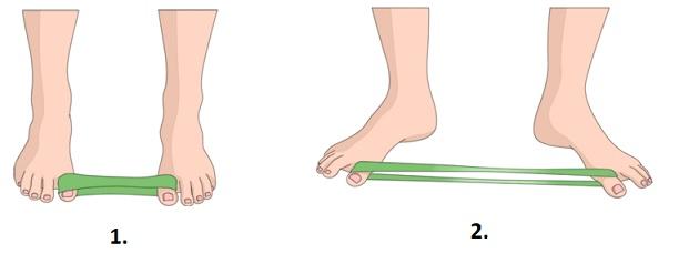 Palcová cvičení na křivý palec u nohy
