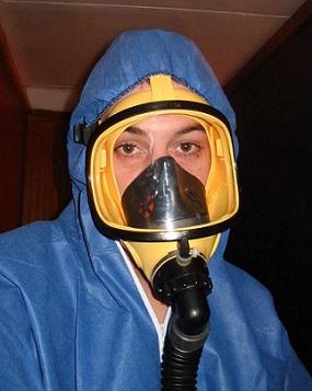 Maska pro práci s azbestem...