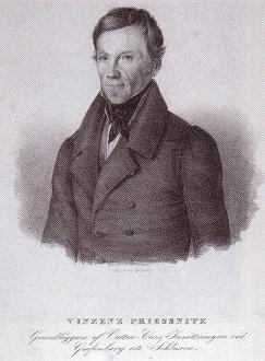 Vincenz Priessnitz prosazoval například léčbu prací, čerstvým vzduchem a čistou horskou vodou.