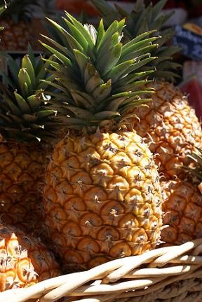 Ananas obsahuje mnoho manganu...