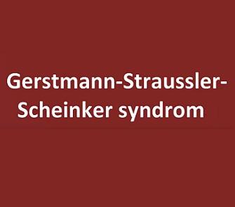 Gerstmann Straussler Scheinker syndrom