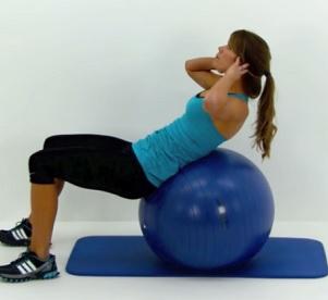 Cvik na břicho na gymnastickém míči