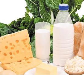 Mléčné výrobky jsou bohaté na vápník.