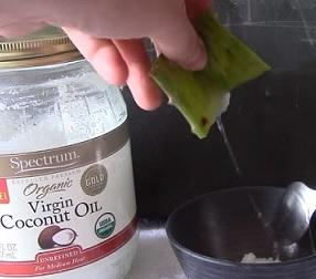 Aloe + kokosový olej = silná kombinace