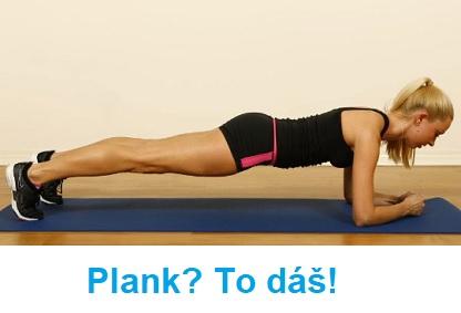 Plank výzva nebo cvik prkno