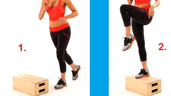 Cvik na hýžďové svaly se schůdky.