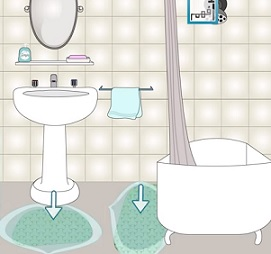 Protiskluzové podložky jsou v koupelně základem bezpečnosti.