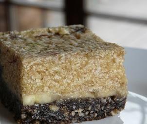 Svěží banánový koláč (dort) s karobem - raw recept