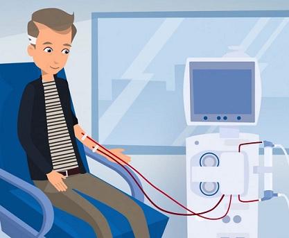Pokud ledviny nepracují správně, vzniká v krvi odpad. Nakonec to může vést ke kómatu a smrti. Dialýza brání tomu, aby odpadní produkty v krvi dosáhly nebezpečných úrovní.