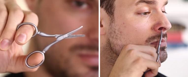 Takto vypadají nůžky na zastřihávání chloupků v nose.