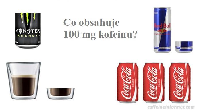 V jakých produktech najdete 100 mg kofeinu?