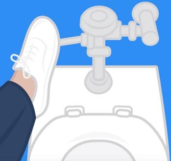 Bojíte se na toaletě spláchnout rukou a raději používáte nohu? Pozor na misofobii.
