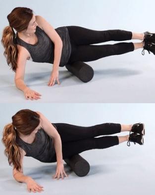 Vazivový pruh na vnější straně stehna