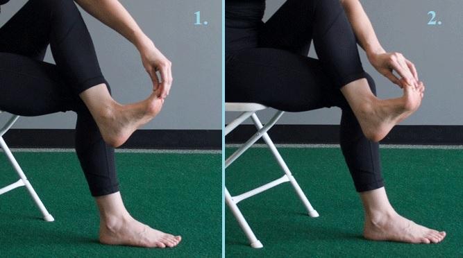 Tak protahujte pomocí palce na noze