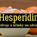 Hesperidin a jeho účinky na zdraví