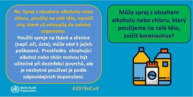 COVID-19 a alkoholové čističe
