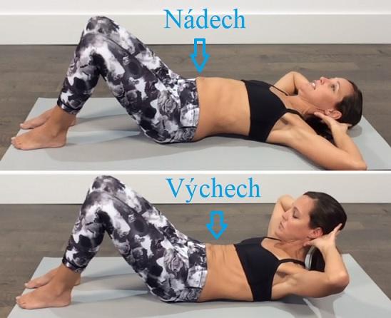 Cvičení břicha může pomoci při lordóze.