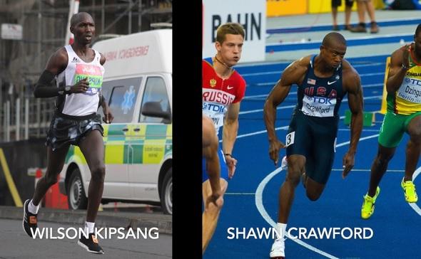 Rozdíl v těle maratonce a sprintera