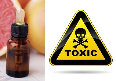 Esenciální oleje mohou vykazovat fototoxicitu, neurotoxicitu, jaterní a ledvinovou toxicitu.