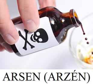 Arsen ve vodě sice moc rozpustný není, zato už pár desetin gramu stačí zabít dospělého člověka.