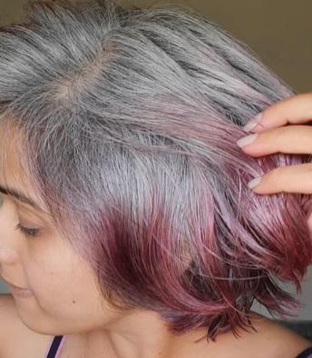 Takto nějak mohou vypadat vlasy obarvené červenou řepou