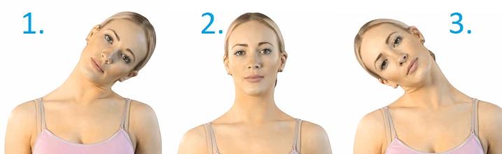 Protažení krku při migréně